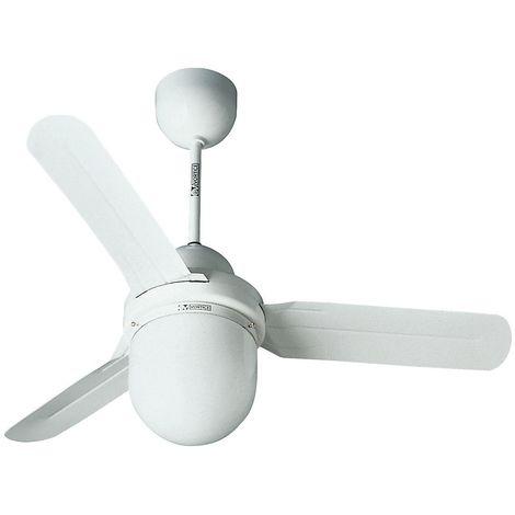 Ventilateur de plafond DESIGN 1S/L - Ø hélice 920 mm - laque blanche - Coloris du boîtier: laqué blanc