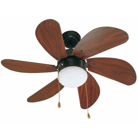 Ventilateur de plafond Faro Palao Marron Bois 33185