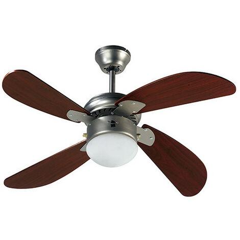 Ventilateur de plafond HAWAI 107cm 4 pales 50 W 230 V - 112424 - Fartools - -