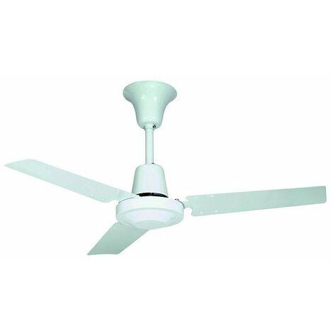 Ventilateur de plafond HTB 140 RC - 50W - 3 vitesses - 52dB(A) - Blanc