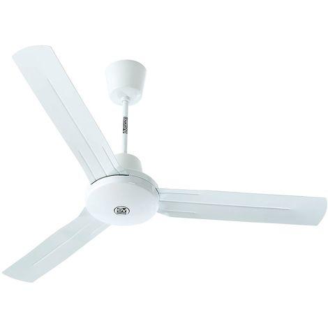 Ventilateur de plafond I plus - Ø hélice 1420 mm - laque gris clair - Coloris du boîtier: laqué gris clair