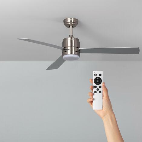 Ventilateur de Plafond LED Atlantis Niquel 132cm Moteur DC - Nickel