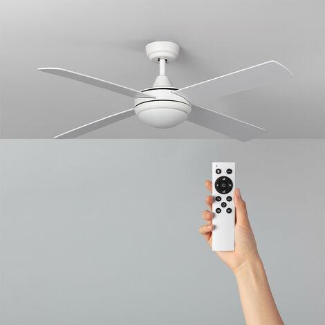 Ventilateur de Plafond LED Baffín Blanc 132cm Moteur DC - Blanc