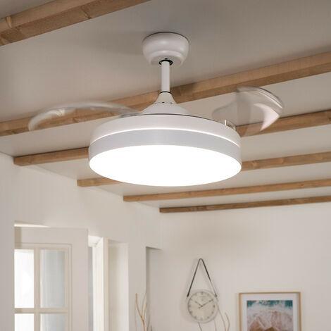 Ventilateur de Plafond LED Dalori Blanc 106cm Moteur DC - Blanc