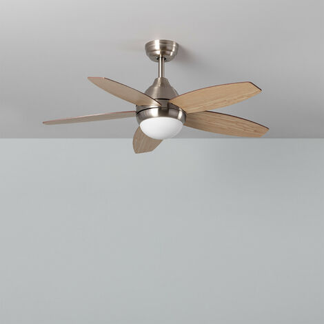 Ventilateur de Plafond LED Dara Nickel 60W Nickel Satiné
