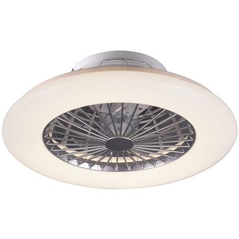 Ventilateur de plafond LED, effet étoile, télécommande, STRALSUND