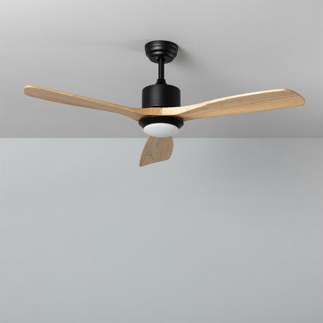 Ventilateur de Plafond LED Forest avec CCT Sélectionnable 15W Bois Bois Foncé