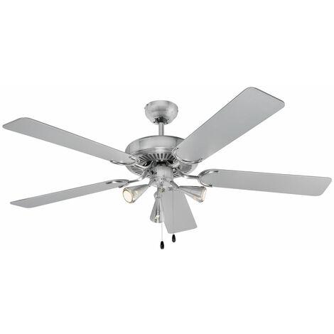 Ventilateur de plafond LED, interrupteur à tirette, D 132 cm, 330780