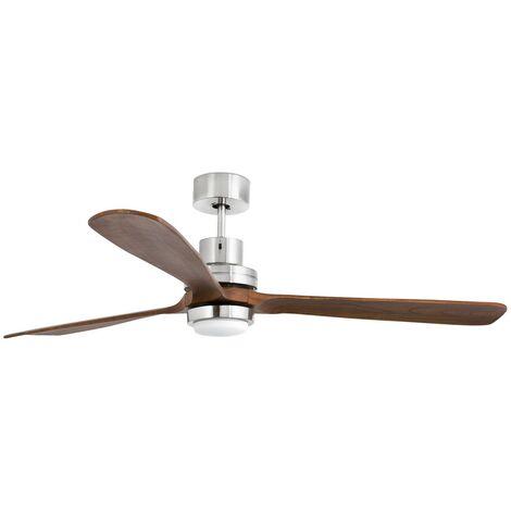 Ventilateur de plafond Led Lantau Nickel FARO 33463