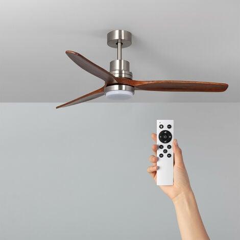Ventilateur de Plafond LED Savate Niquel 132cm Moteur DC - Nickel