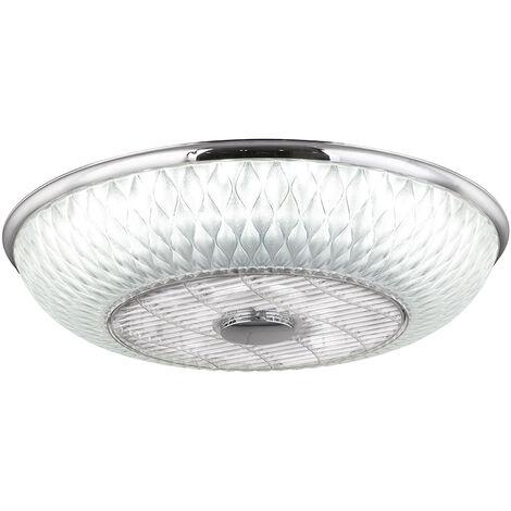 Ventilateur de plafond LED, télécommande, dimmable, 3 niveaux, CCT, D 55 cm, ROSARIO