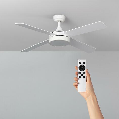 Ventilateur de Plafond LED Timor Blanc 132cm Moteur DC - Blanc