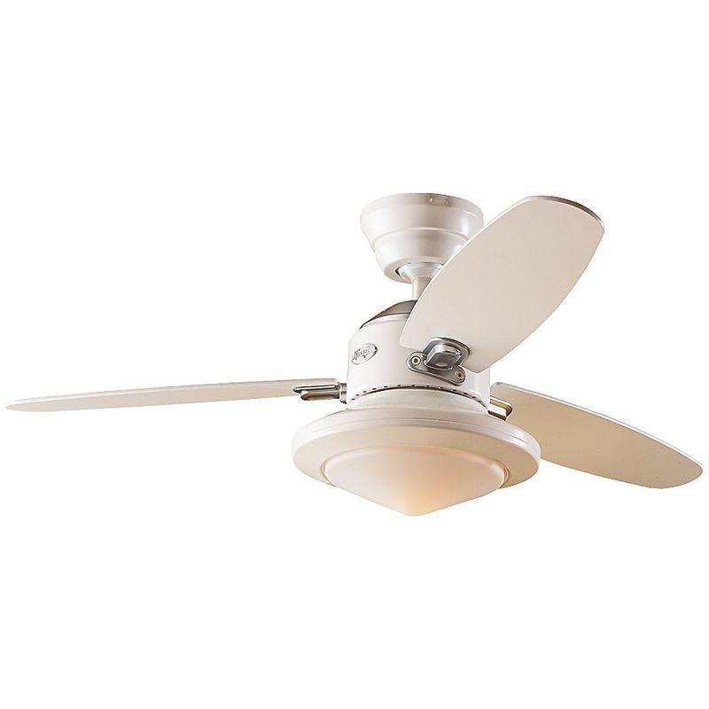 Ventilateur de plafond MERCED Ø hélice 1320 mm laque blanc calcaire hêtre laque blanche