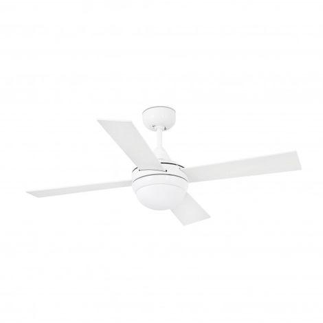 Ventilateur de plafond avec lumière blanc Mini Icaria 2 ampoules