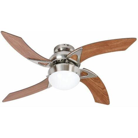 """main image of """"Ventilateur de plafond - MOOREA - 107cm - 4 pales - 1 lampe reversible"""""""