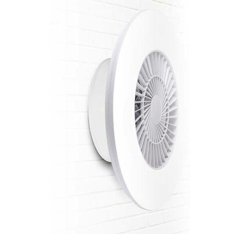 Ventilateur de Plafond / Mur LED 40W Blanc AC 3000+4000+6000 avec Télécommande + App 3000+4000+6000 | IluminaShop