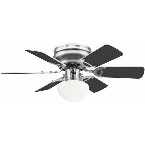 Ventilateur de plafond plus silencieux interrupteur à tirette lampe refroidisseur plus chaud ventilateur lampe 3 pales réversibles blanc anthracite