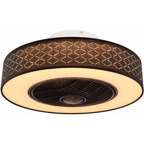 Ventilateur de plafond Rosario Noir 55 cm avec LED