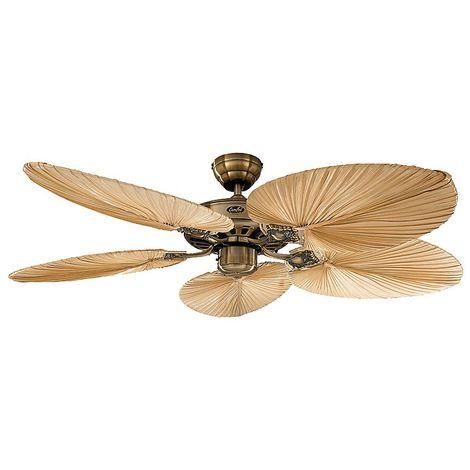 Ventilateur de Plafond Royal Classic 132cm Bois Rotin - CASAFAN -