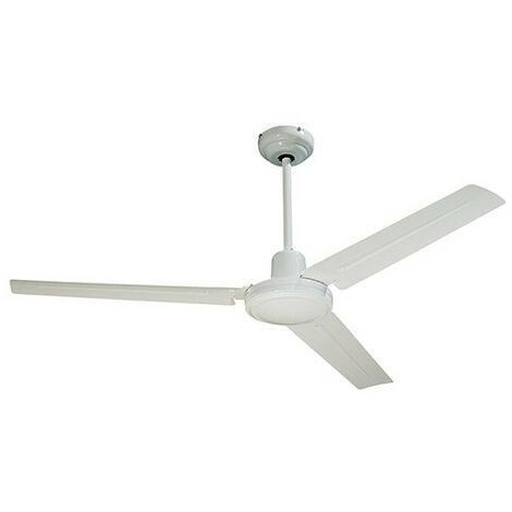 Ventilateur de plafond SEYCHELLES D. 122 cm 3 pales métal laqué blanc 65 W 230 V - 112416 - Fartools - -