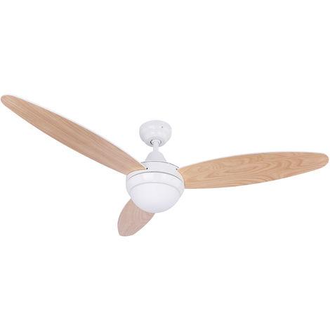 Ventilateur de plafond télécommande lampe blanche ventilateur radiateur salon lampe buche Globo 03612