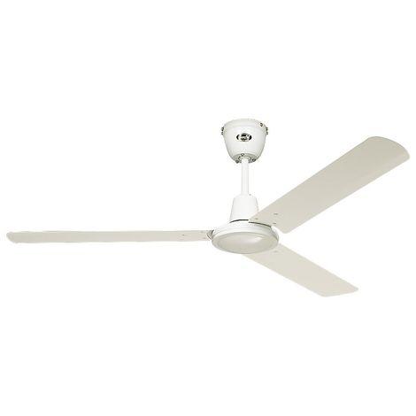 Ventilateur de plafond TRISTAR II - Ø hélice 920 mm - laque blanche - Coloris du boîtier: laqué blanc