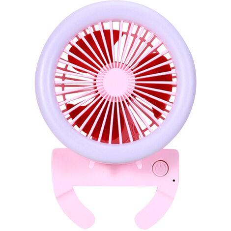 Ventilateur De Poche Avec Led Mini Ventilateur Pliable Portable 3 Vitesses Faible Bruit Ventilateur De Bureau Personnel