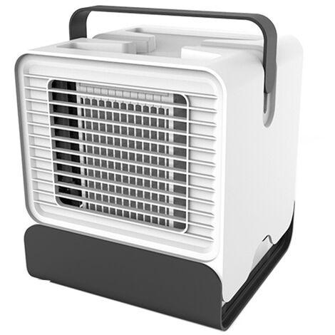 Ventilateur De Refroidissement a Ions Negatifs, Avec eclairage Led, Blanc