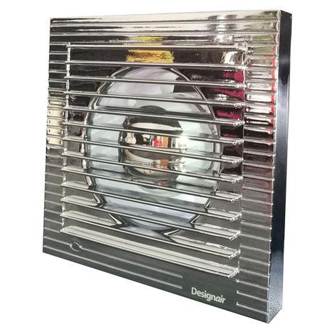 Ventilateur de salle de bain effet chrome poli de 4 pouces