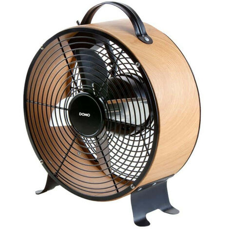 Ventilateur de sol DOMO bois look - diamètre 26cm DO8145