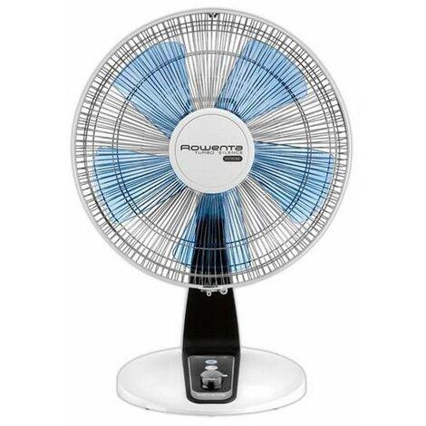 ventilateur de table 30cm 40w blanc/bleu - vu2630f0 - rowenta