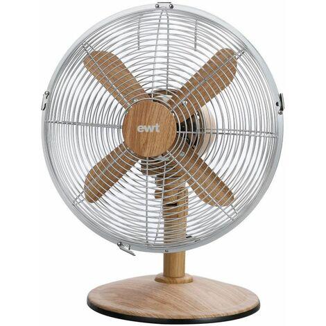 ventilateur de table 30cm 45w bois - woodairf - ewt
