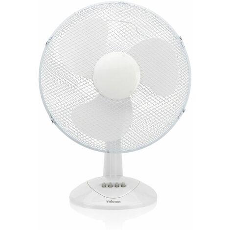 ventilateur de table 40cm 50w blanc - ve5978 - tristar