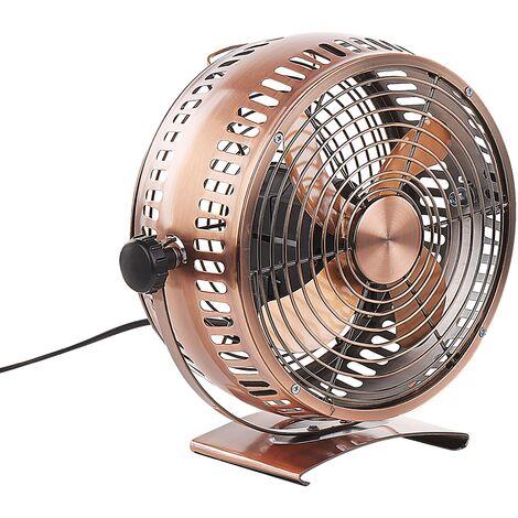 Ventilateur de table en métal cuivré 24 cm RIBBLE