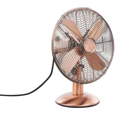 Ventilateur de table en métal cuivré 42 cm WENSUM