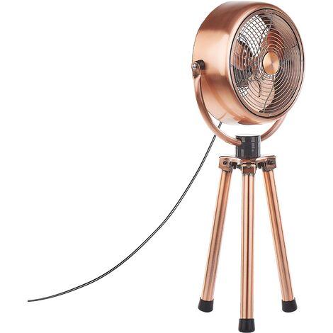 Ventilateur de table en métal cuivré DARENT