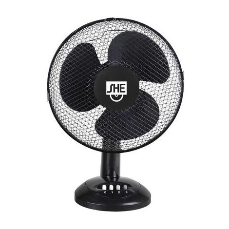 Ventilateur de table SHE SHE40TI1902 50 W noir