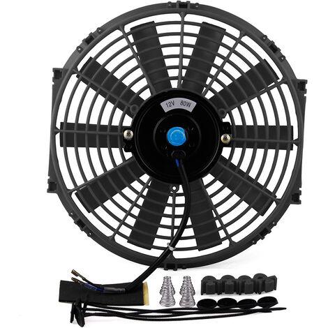 Ventilateur de voiture ventilateur de reservoir d'eau modifie haute puissance ventilateur de refroidissement de voiture lame de ventilateur incurvee 12 pouces
