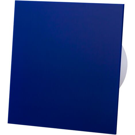 Ventilateur d'extracteur de capteur d'humidité de panneau avant de verre acrylique bleu 100mm pour la ventilation de plafond de mur