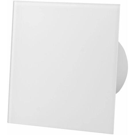 Ventilateur d'extracteur de capteur d'humidité de panneau avant en verre blanc brillant 100mm pour la ventilation de plafond