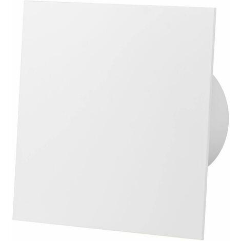 Ventilateur d'extracteur de capteur d'humidité de panneau de verre acrylique blanc brillant de 100mm pour la ventilation de plafond de mur