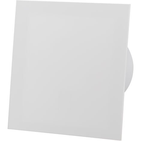 Ventilateur d'extracteur de capteur d'humidité de panneau de verre acrylique blanc mat de 100mm pour la ventilation de plafond de mur