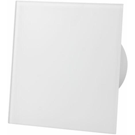 Ventilateur d'extracteur de capteur d'humidité de panneau de verre blanc mat de 100mm pour la ventilation de plafond de mur
