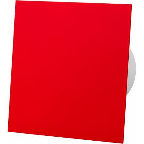 Ventilateur d'extracteur de minuterie de panneau avant en verre acrylique rouge de 100mm pour la ventilation de plafond de mur