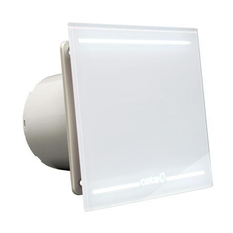 Ventilateur d'extracteur de salle de bain en verre blanc Culina E100GLT 100 mm avec lumi re LED