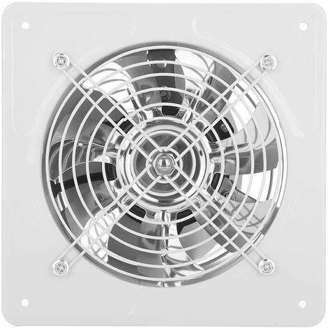 Ventilateur d'Extraction 6 Pouce Extracteur d'Air Ventilation Murale Silent pour Salle de Bain Garage Cuisine 40W 220 V Ventilo 1100m³ / H Débit d'Air et 50 ~ 60 dBA