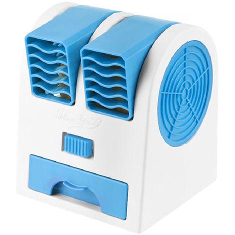 Ventilateur, Double Vent, Bleu