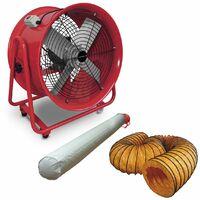 Ventilateur extracteur 500 mm - 1100 W avec tuyau et sac filtrant MW-Tools MV500RSET