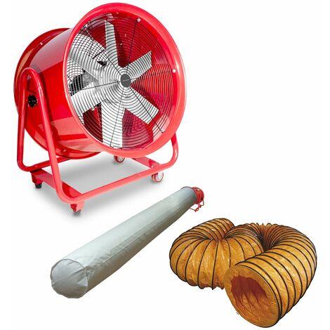Ventilateur extracteur 600 mm - 2000 W 380V avec tuyau et sac filtrant MW-Tools MV600R3SET