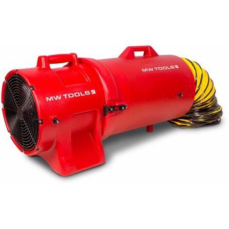 Ventilateur extracteur mobile avec tuyau d'extraction et porte-tuyau 300 mm - 750 W MW-Tools MVH300PPSET